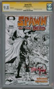 Spawn #223  Sketch Variant CGC 9.8 Signature Series Signed Todd McFarlane Image comic book